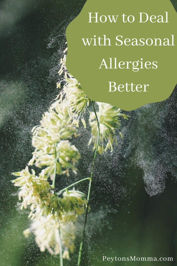 How to Deal with Seasonal Allergies Better - Peyton's Momma™