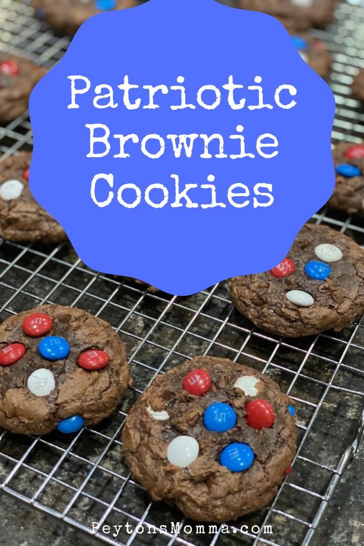 Patriotic Brownie Cookies - Peyton's Momma™