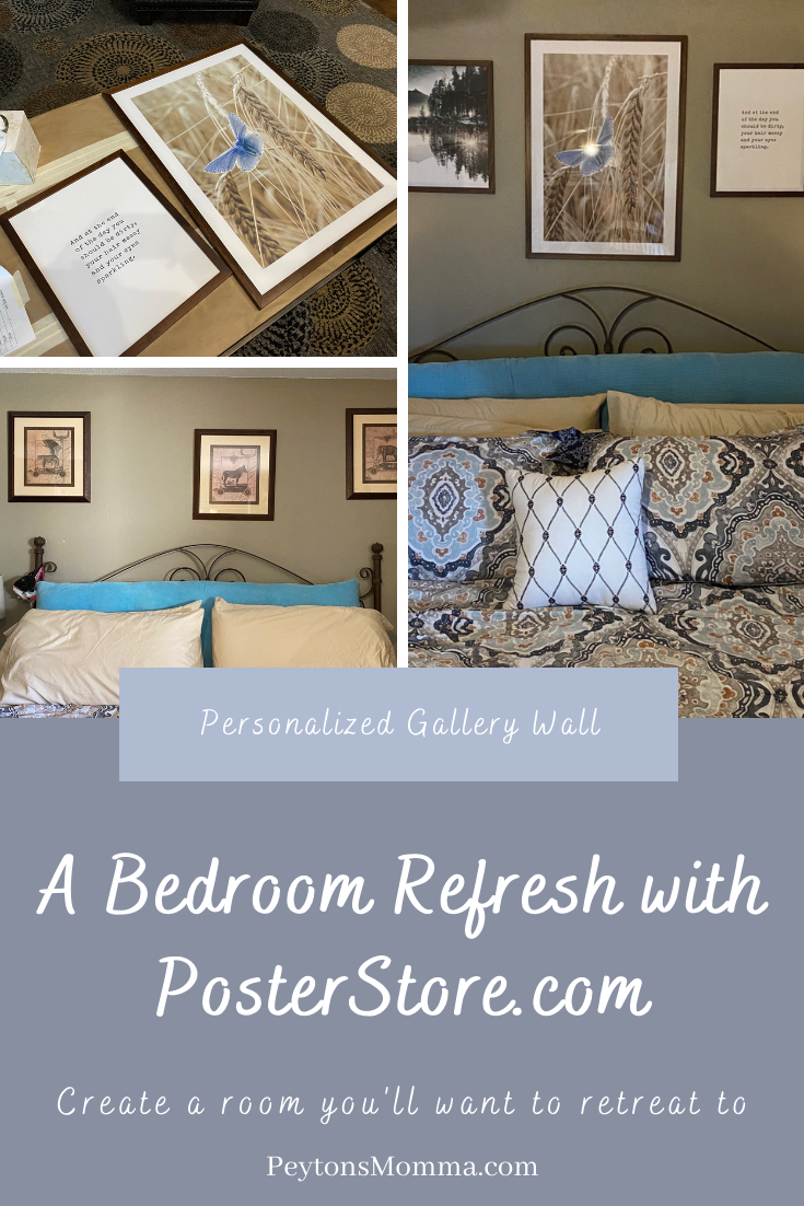 A Bedroom Refresh with Poster Store - Peyton's Momma™